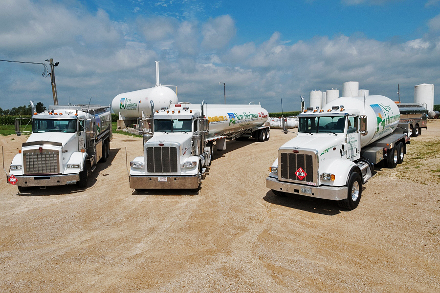 New Horizons Cenex delivery drivers are known for supplying dependable, safe propane to their customers.