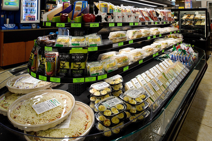 Perfect for those on the go, our convenience stores are stocked full of freshly prepared, grab and go meals.