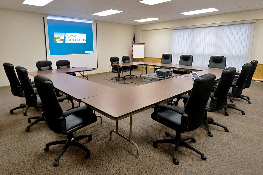 Cooperative Board members meet at the New Horizons corporate office in Fennimore.